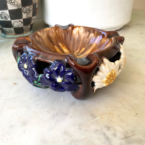 Mid-Century Austrian Majolica Ashtray - Matthew Izzo Home