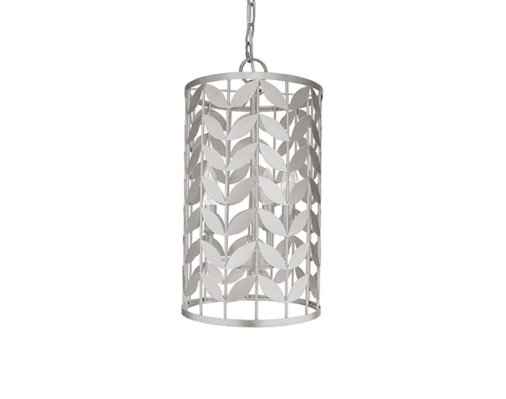 Worlds Away Bloom Silver Leaf Pendant Light - Matthew Izzo Home