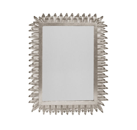 Worlds Away Caesar Silver Leaf Wall Mirror - Matthew Izzo Home