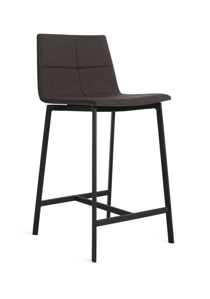 Blu Dot Between Us Gunmetal Modern Counter Stool - Matthew Izzo Home
