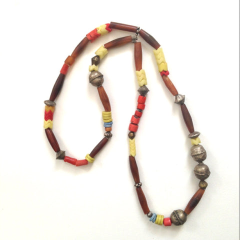 Antique African trade beads Amber with ethio - Matthew Izzo Home