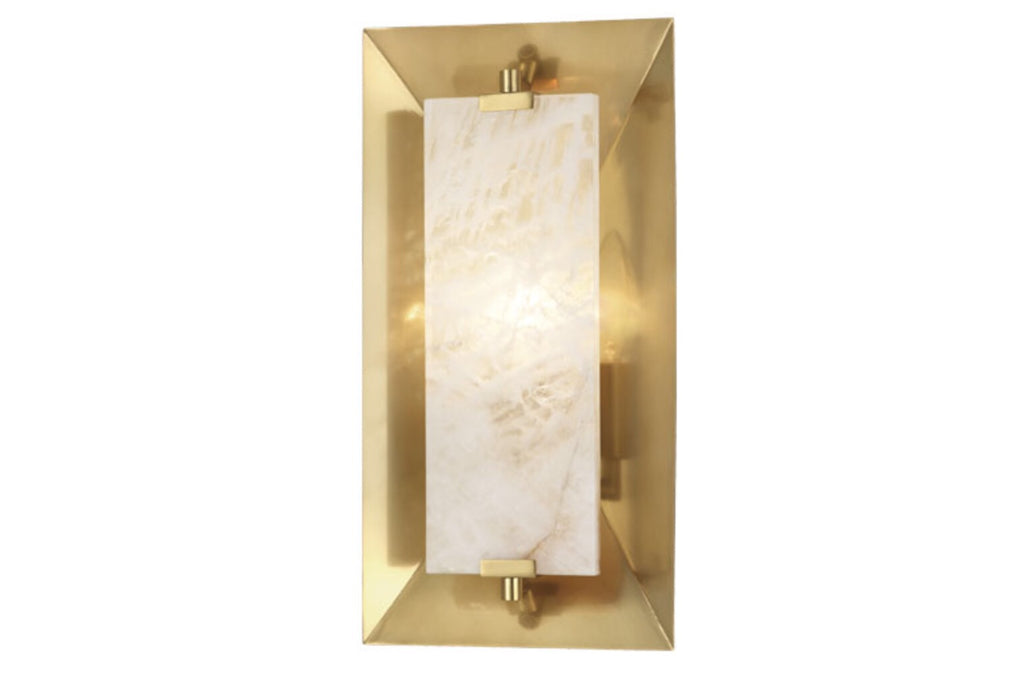 Robert Abbey Gemma Modern Brass Wall Sconce - Matthew Izzo Home