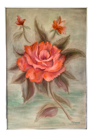Vintage Oil Painting of Roses by Anthony Gennarelli - Matthew Izzo Home