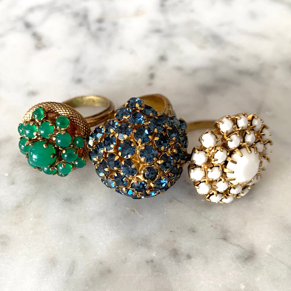 Amazing Collection of Three 1950s Rings - Matthew Izzo Home
