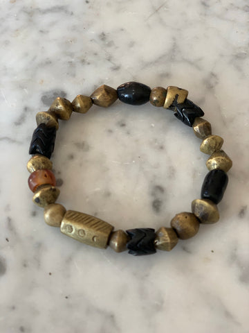 Vintage Brass And Ancient Bead bracelet - Matthew Izzo Home