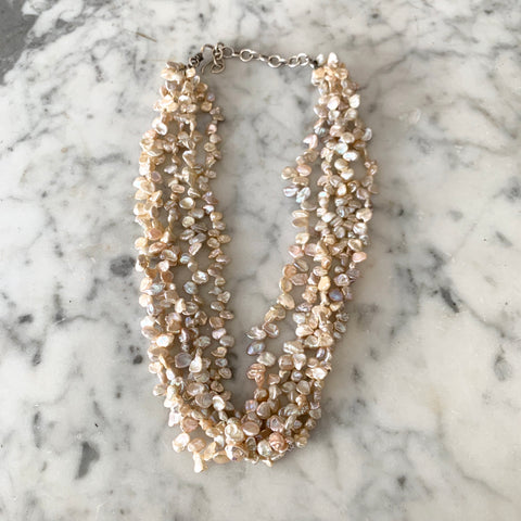 Vintage freshwater pearl multi strand necklace - Matthew Izzo Home