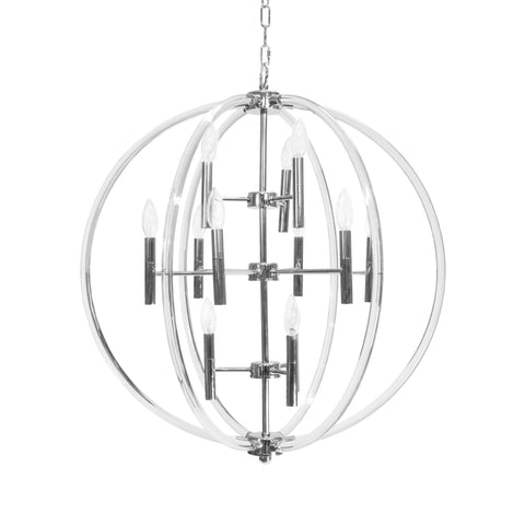 Worlds Away Bombay Modern Nickel Chandelier - Matthew Izzo Home