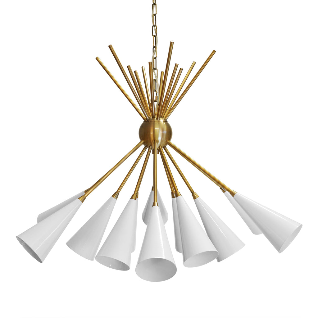 Worlds Away Channing Metallic Chandelier - Matthew Izzo Home