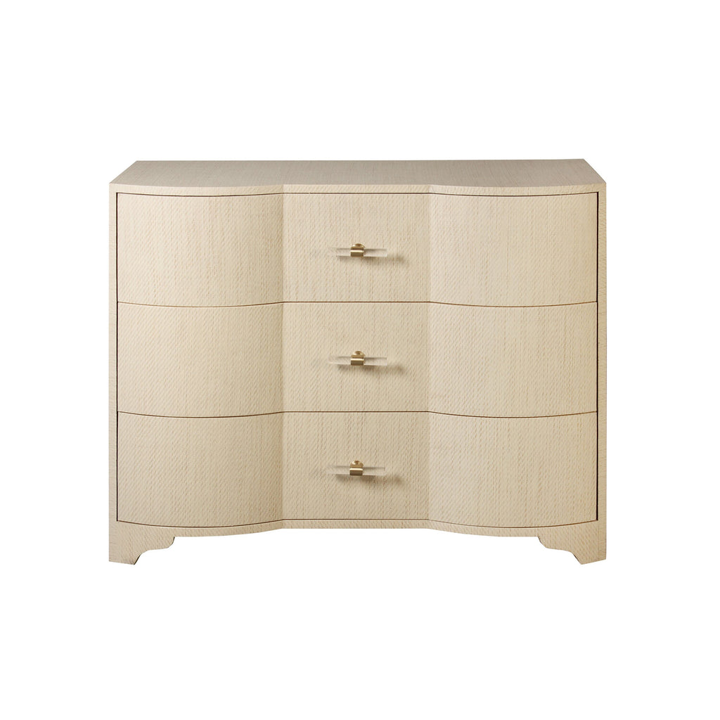 Worlds Away Plymouth Grasscloth Chest - Matthew Izzo Home