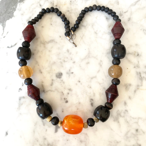 1940s Bakelite and Resin Necklace, Paris - Matthew Izzo Home