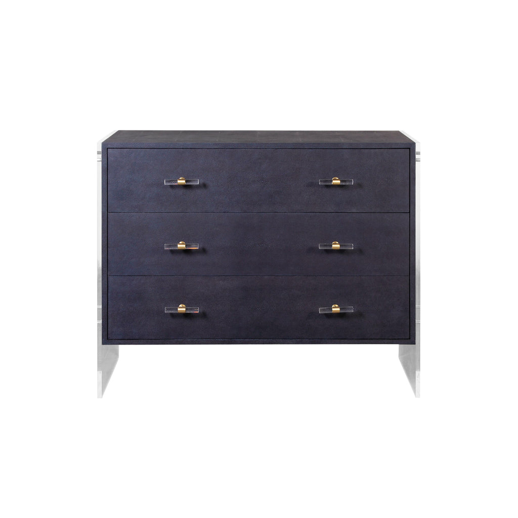 Worlds Away Bowen Three Drawer Chest - Matthew Izzo Home