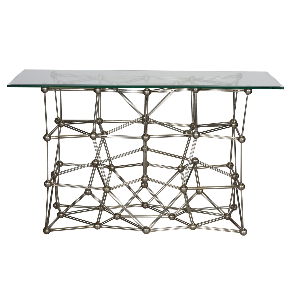 Worlds Away Molecule Iron Console Table - Matthew Izzo Home