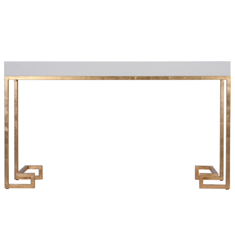Worlds Away Barsanti Greek Key Console Table - Matthew Izzo Home