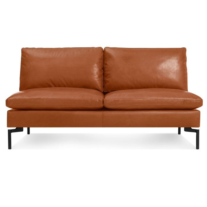 "Blu Dot New Standard 60"" Armless Leather Sofa - Matthew Izzo Home"