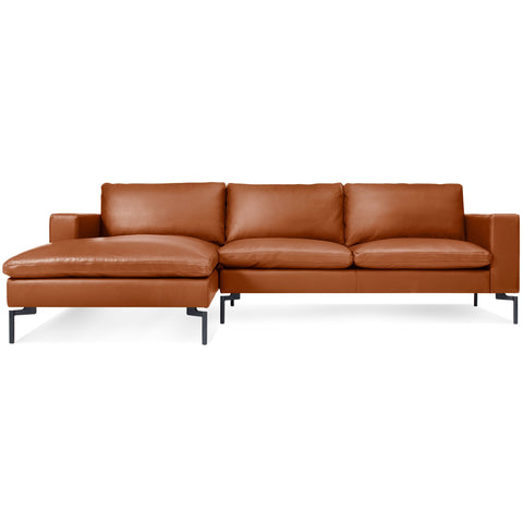 Blu Dot New Standard Leather Sofa w/ Left Arm Chaise - Matthew Izzo Home