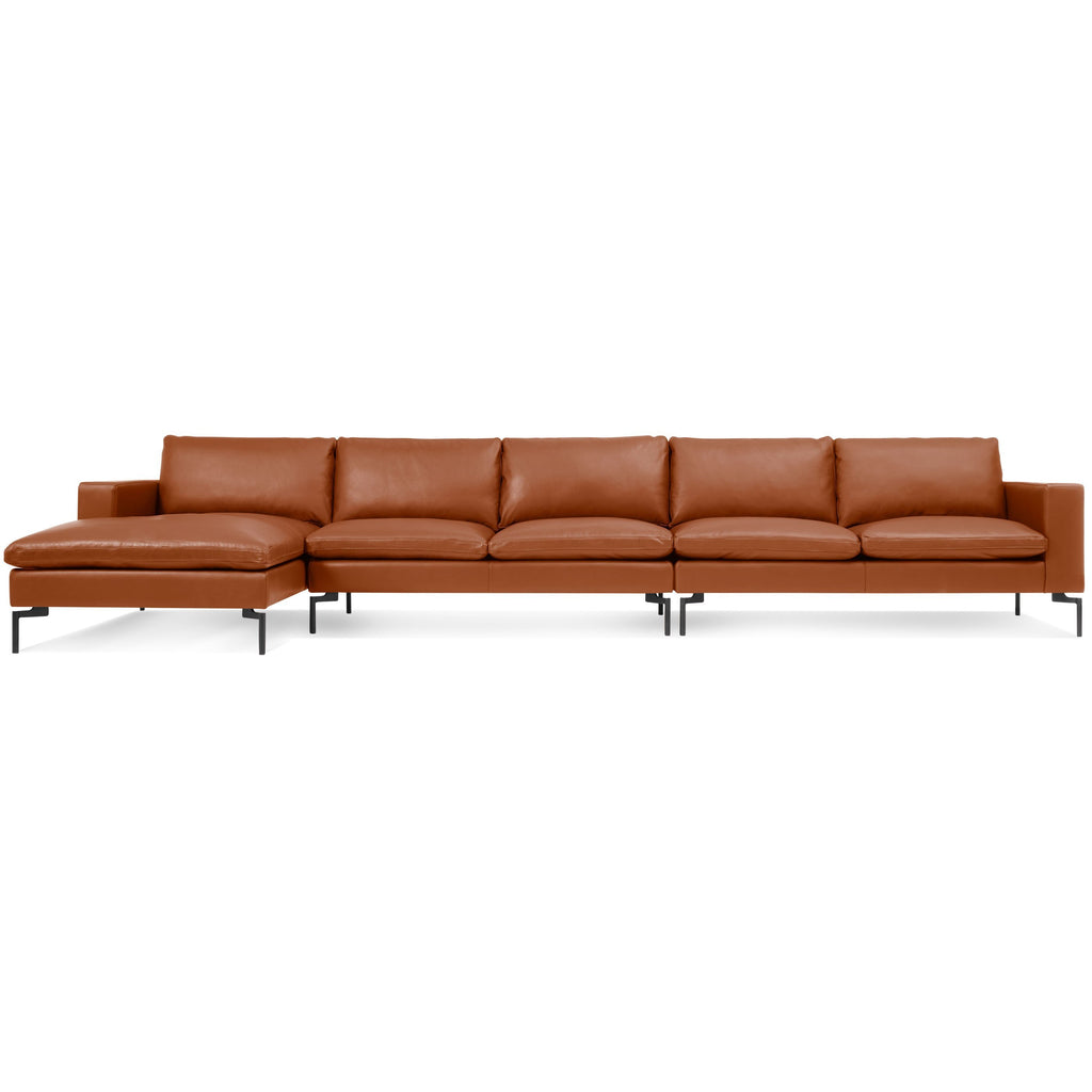Blu Dot New Standard Left Leather Sectional - Medium