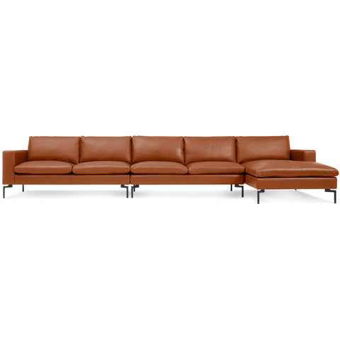 Blu Dot New Standard Right Leather Sectional - Medium - Matthew Izzo Home