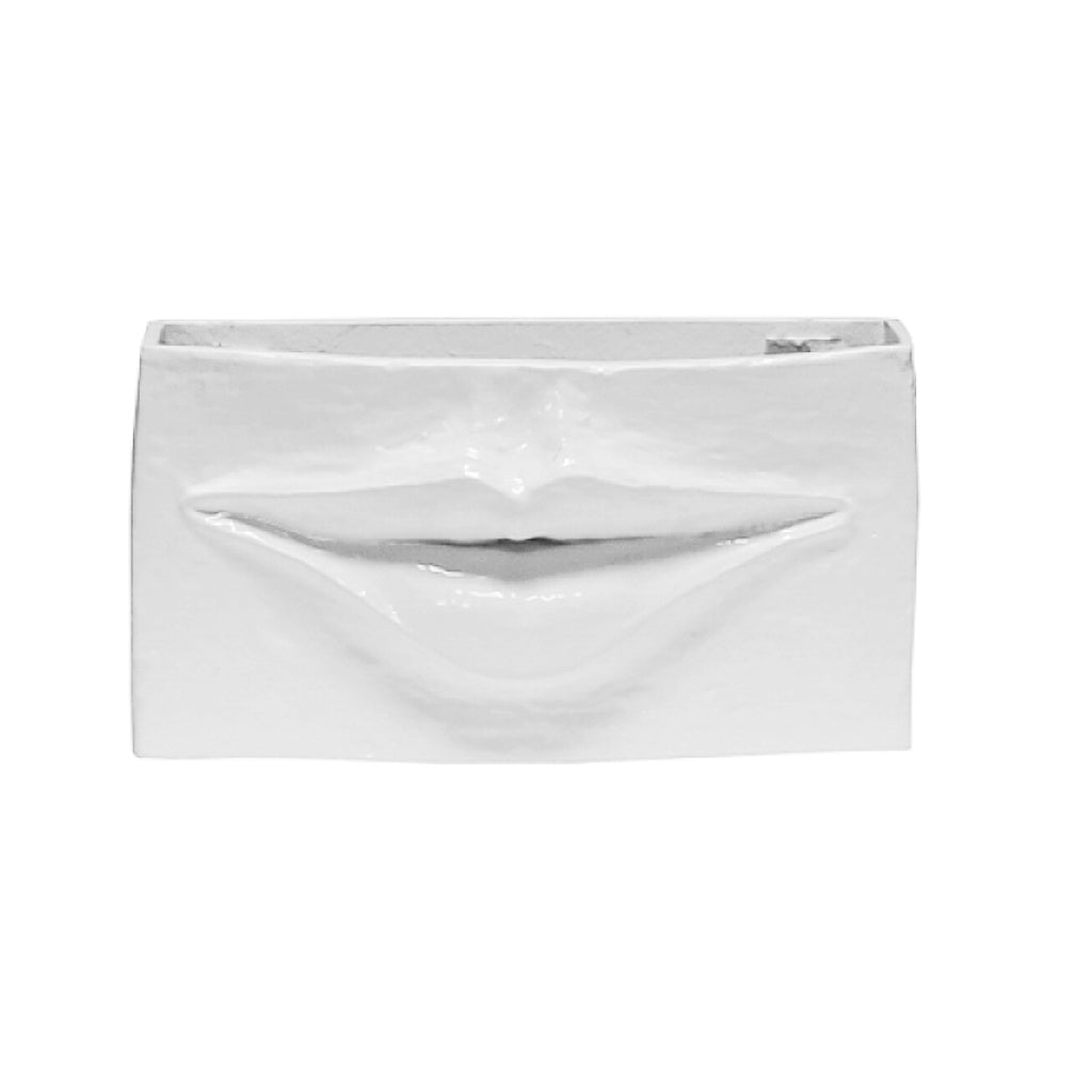 Worlds Away Ceramic Lips Container