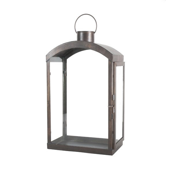 Worlds Away Ruby Rectangular Base Lantern - Matthew Izzo Home