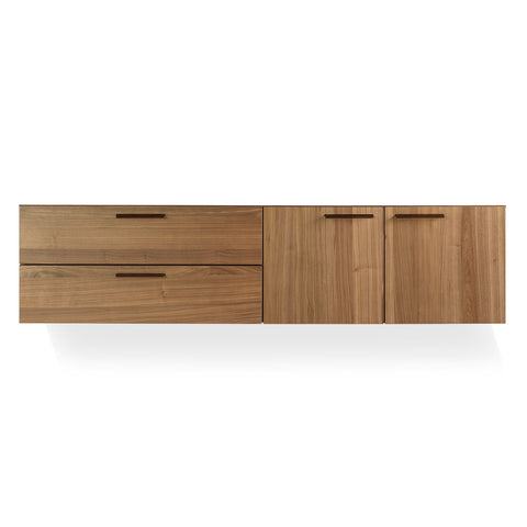 Blu Dot Shale 2 Door / 2 Drawer Wall-Mounted Cabinet - Matthew Izzo Home