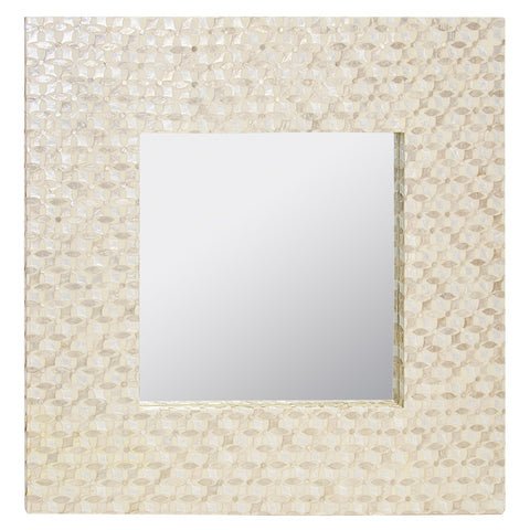 Worlds Away Johanna Inlaid Capiz Shell Square Mirror - Matthew Izzo Home