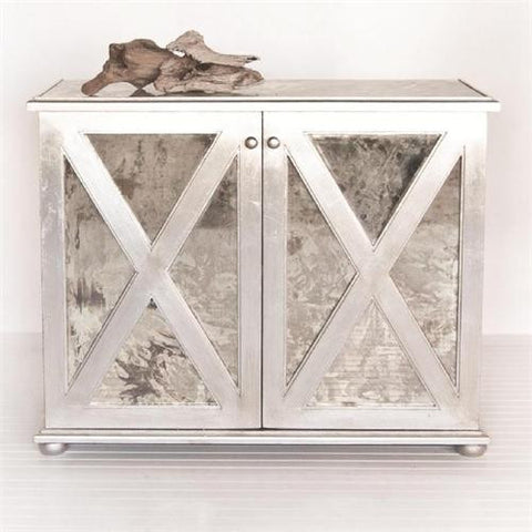 Worlds Away Clayborn Reverse Mirror Chest - Matthew Izzo Home