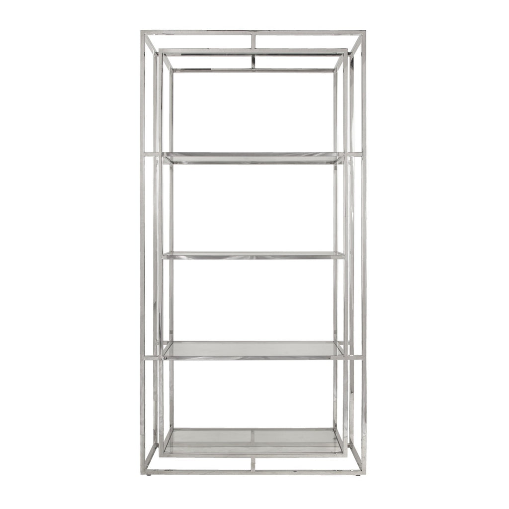 Worlds Away Fletcher Elegant Glass Shelf Etagere - Matthew Izzo Home