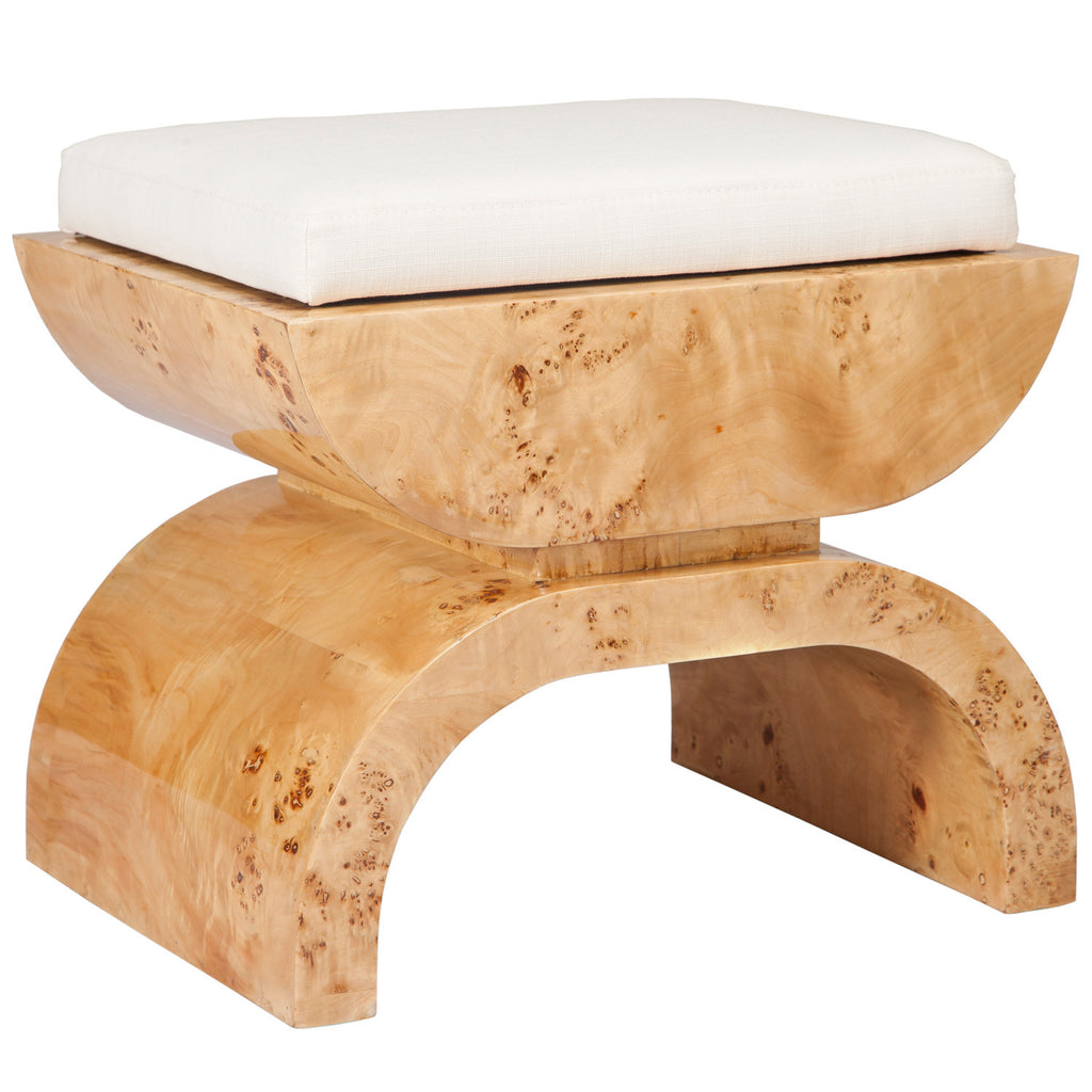 Worlds Away Biggs Small Wood Stool - Matthew Izzo Home