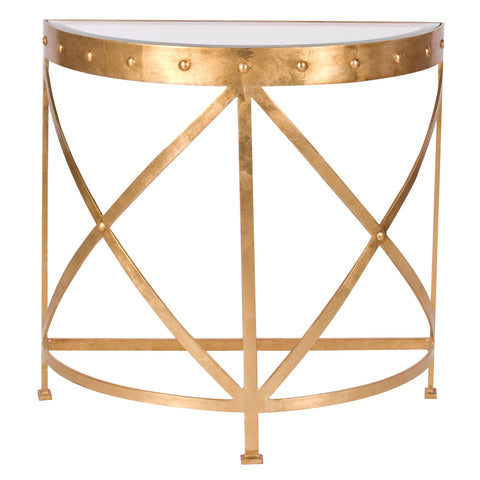 Worlds Away Grove Studded Console - Matthew Izzo Home