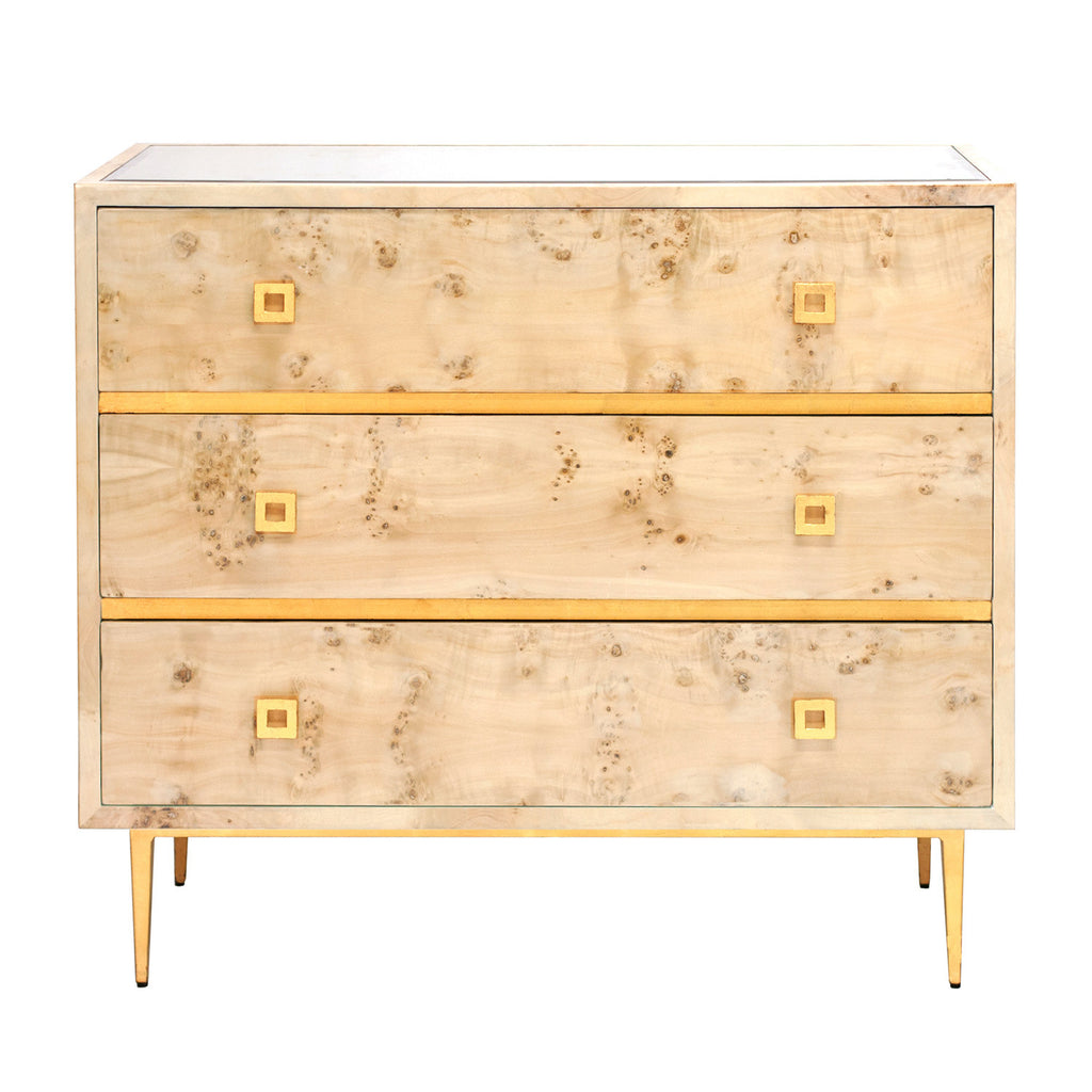 Worlds Away Hudson 3 Drawer Chest - Matthew Izzo Home