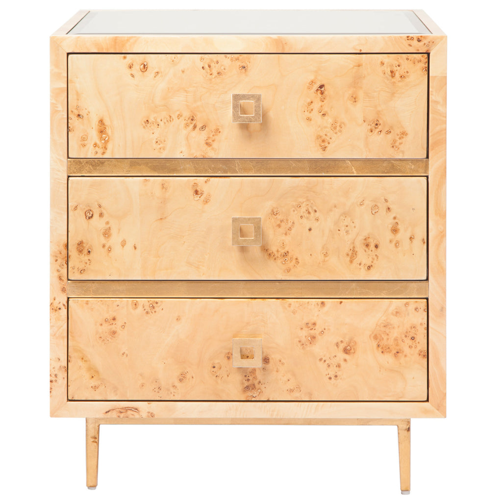 Worlds Away Hyde 3 Drawer Side Table - Matthew Izzo Home