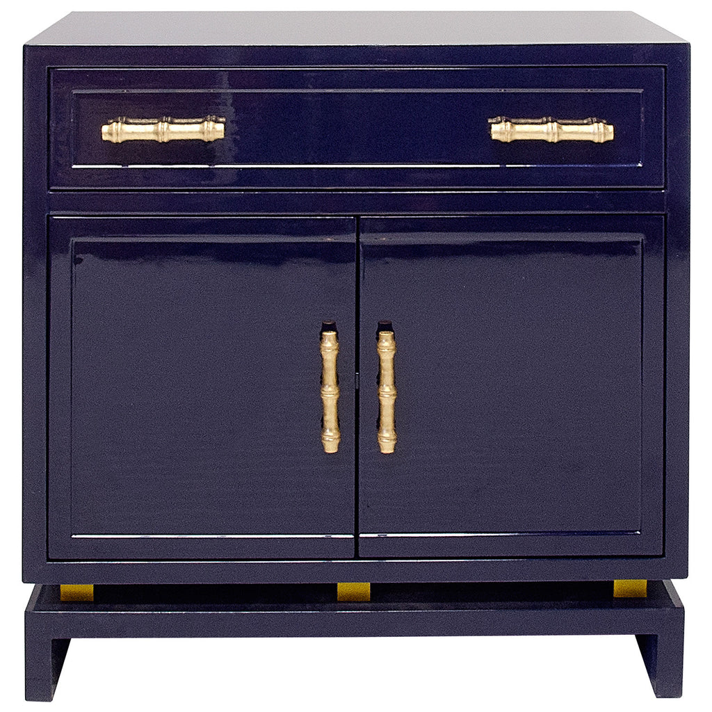 Worlds Away Marcus Lacquer Cabinet - Matthew Izzo Home