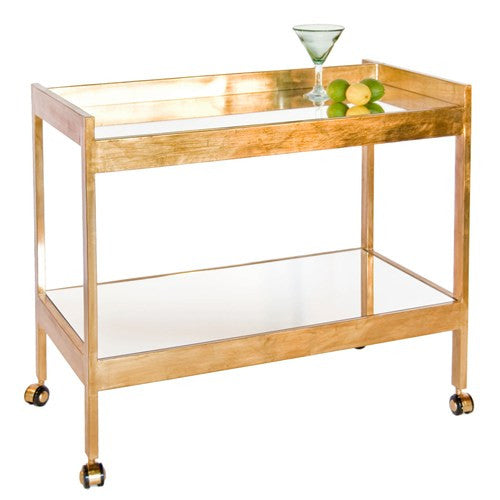 Worlds Away Roland Bar Cart - Matthew Izzo Home