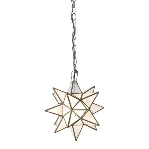 Worlds Away Star Frosted Glass Chandelier - Matthew Izzo Home