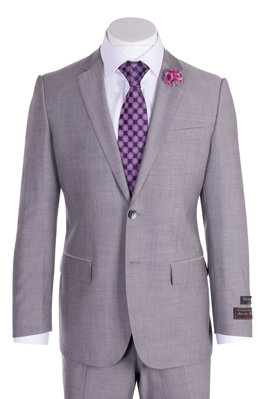 Novello Gray Herringbone Pure Wool Men's Suit by Tiglio Luxe 12A005  Tiglio - Italian Suit Outlet