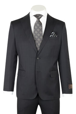 Dolcetto Modern Fit, Dark Gray with Ton On Ton Checkered, Pure Wool Suit by VITALE BARBERS CANONICO Cloth by Canaletto Menswear 187.718/1  Canaletto - Italian Suit Outlet