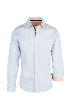 Light Blue with Geometric Pattern Modern Fit Sport Shirt by Tiglio Sport 2387  Tiglio - Italian Suit Outlet