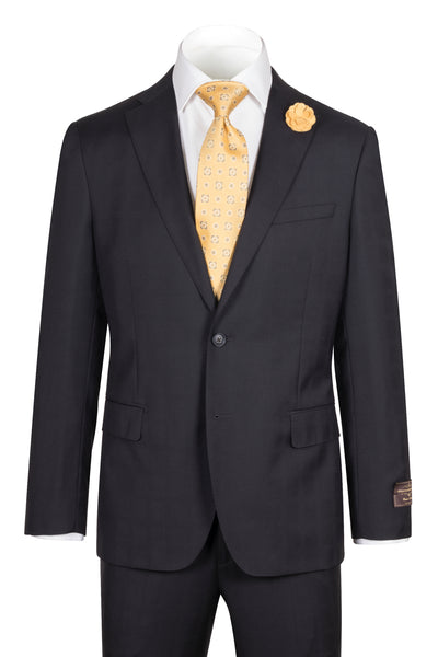 Dolcetto Modern Fit, Black with Ton On Ton Checkered, Pure Wool Suit by VITALE BARBERS CANONICO Cloth by Canaletto Menswear 286.838/2  Canaletto - Italian Suit Outlet
