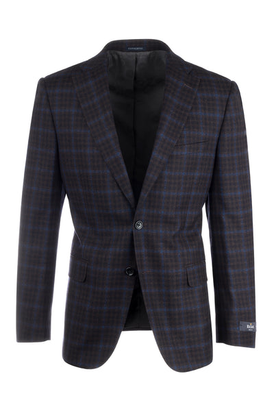Dolcetto Black and Red Check with Light Blue Windowpane Modern Fit, Pure Wool Jacket by Canaletto Menswear 48068/2  Canaletto - Italian Suit Outlet