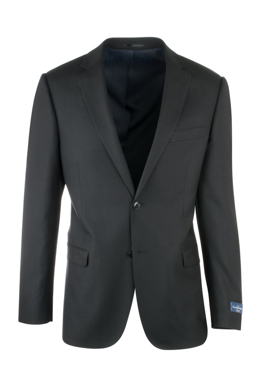 Zegna Ermenegildo Cloth Superfine Wool Black Jacket By Canaletto Menswear 752U/0203  Canaletto - Italian Suit Outlet