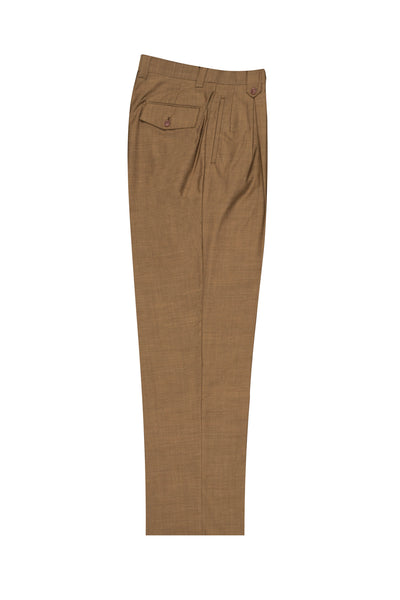 Cinnamon, Wide Leg Wool Dress Pant 2586/2576 by Tiglio Luxe 876601/3205  Tiglio - Italian Suit Outlet