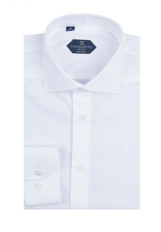 White Dress Shirt, Regular Cuff, by Canaletto Acapulco/1  Canaletto - Italian Suit Outlet