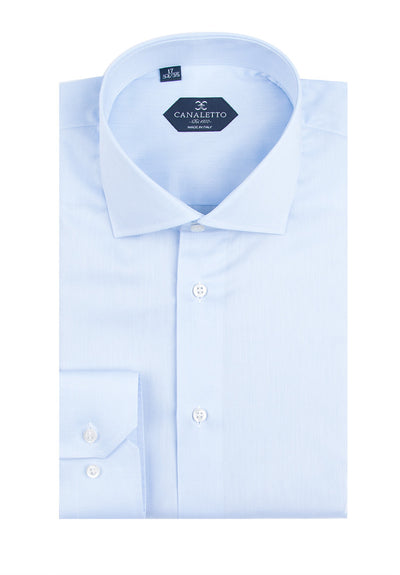 Light Blue Dress Shirt, Regular Cuff, by Canaletto Acapulco/2  Canaletto - Italian Suit Outlet