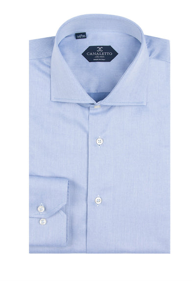 Grayish Blue Dress Shirt, Regular Cuff, by Canaletto Acapulco/3  Canaletto - Italian Suit Outlet