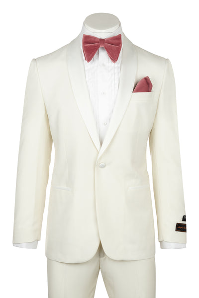 Tiglio Luxe Beckham, Modern Fit, OFF WITHE, Pure Wool Tuxedo Off White  Tiglio Luxe - Italian Suit Outlet