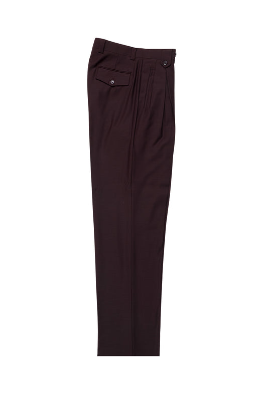 Burgundy Wide Leg, Pure Wool Dress Pants by Tiglio Luxe  Tiglio - Italian Suit Outlet
