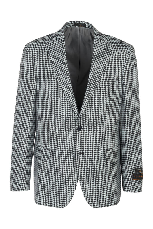 Dolcetto Black Houndstooth, Modern Fit, Pure Wool Jacket by Tiglio Luxe C5354/1  Tiglio Luxe - Italian Suit Outlet