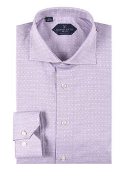 Lavender with small white pique pattern shirt Dress Shirt, Regular Cuff, by Canaletto CNS117  Canaletto - Italian Suit Outlet
