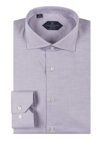 Light Lavender with white dimond pattern shirt Dress Shirt, Regular Cuff, by Canaletto CNS128  Canaletto - Italian Suit Outlet