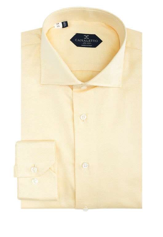 Yellow Nail-head Dress Shirt, Regular Cuff, by Canaletto CS1034  Canaletto - Italian Suit Outlet